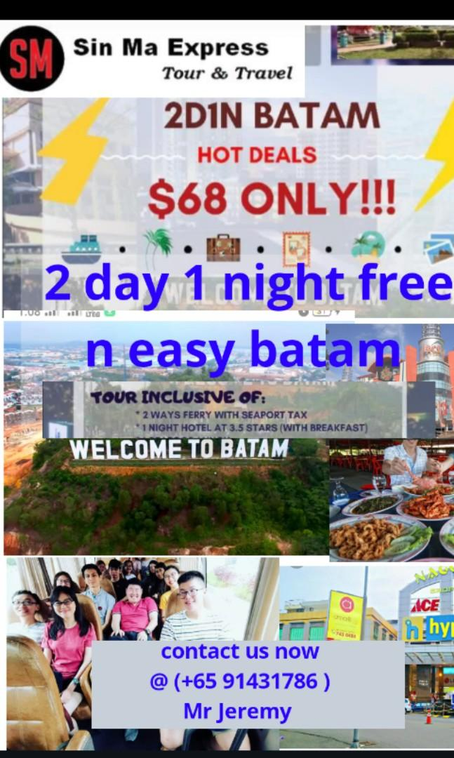 Free n easy batam shopping promotional package limited time only. W 2 way ferry/hotel /transfer whatapp click now  http://wa.me/6591431786
