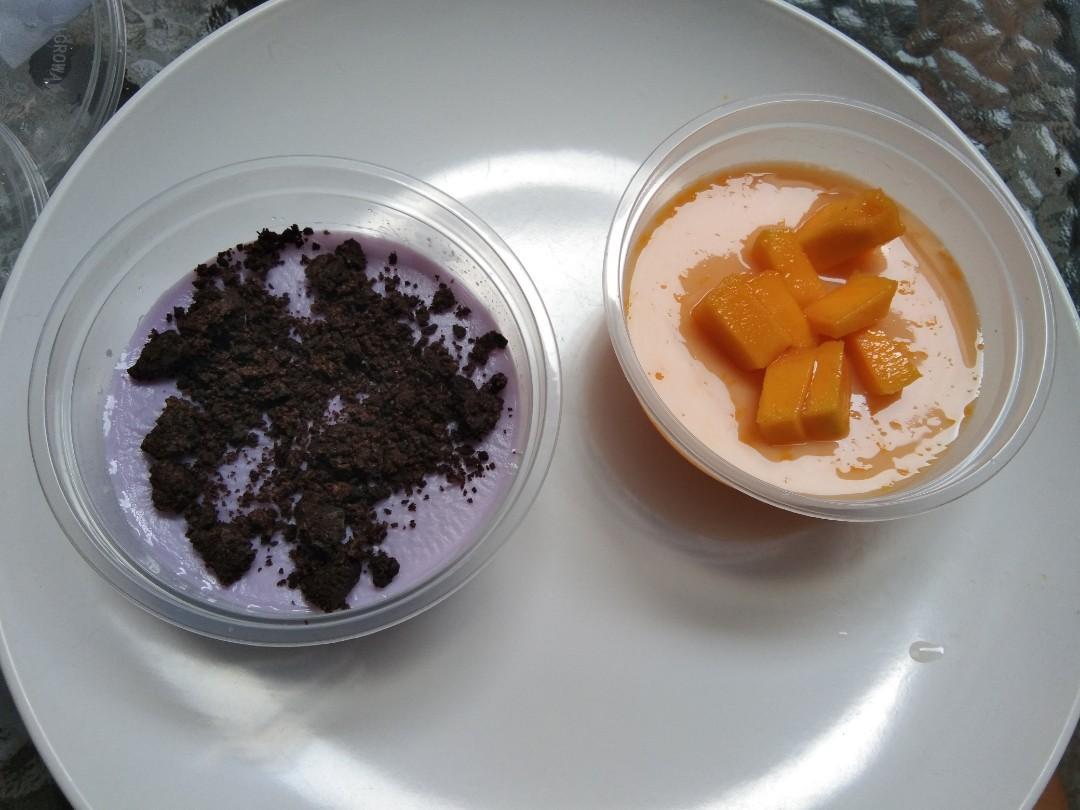 Fresh juice tanpa gula, kita mix madu and silky puding