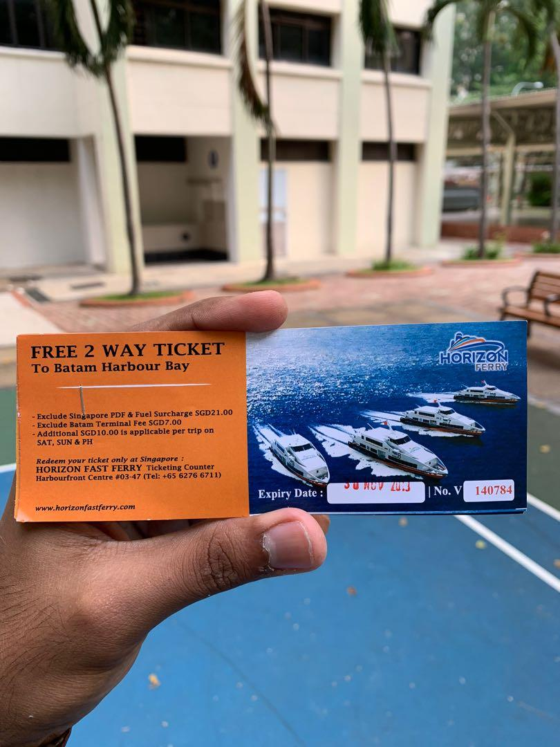 Horizon Fast Ferry - 2 way ticket to Batam