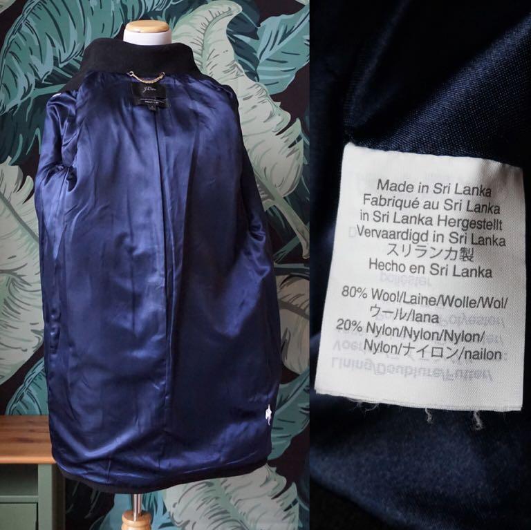 J. Crew Cocoon Coat in Italian Stadium-cloth Wool Size Classic 8