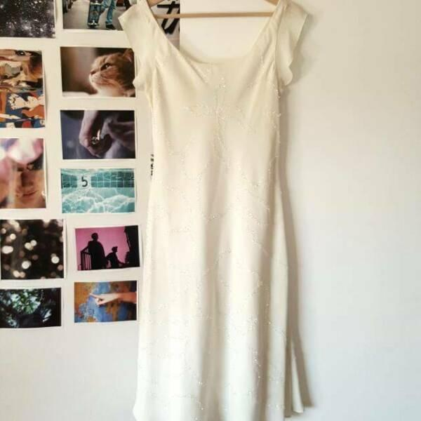 Jones new york midi creme ivory S 6 8 Beautiful Bridal Wedding Dress