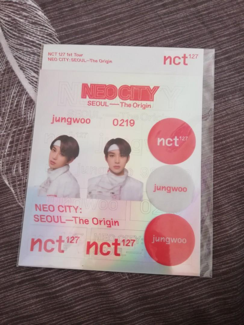 Nct127 Jungwoo NEOCITY holographic and transparent stickers