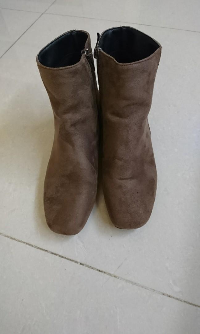 Miustar咖啡色短靴 二手鞋 #剁手時尚