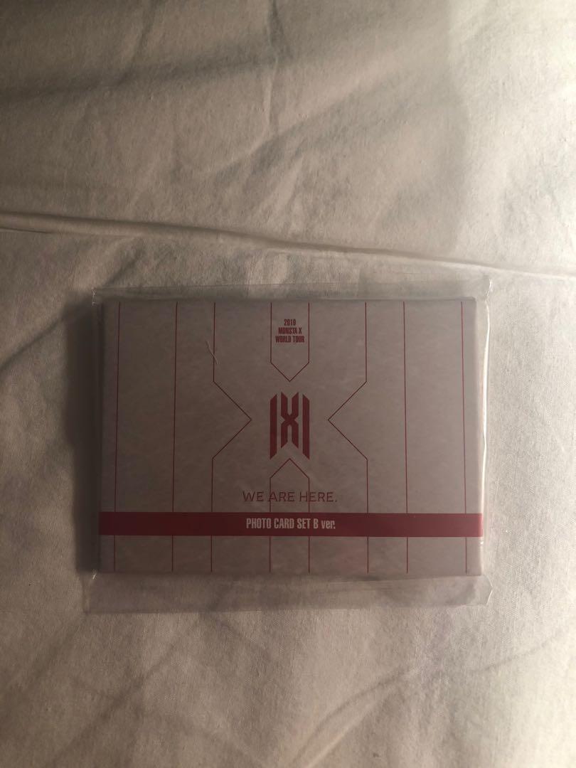 Kpop MONSTA X We are here World Tour photocard ser B ver