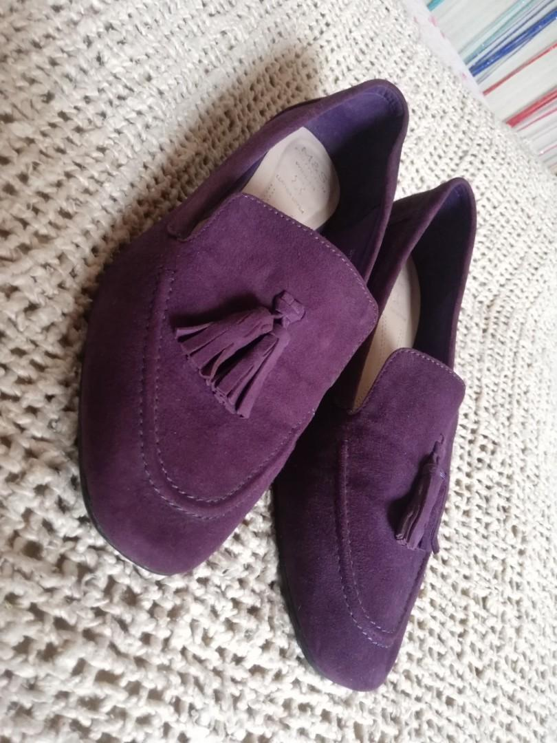 M&S suede tassel loafers