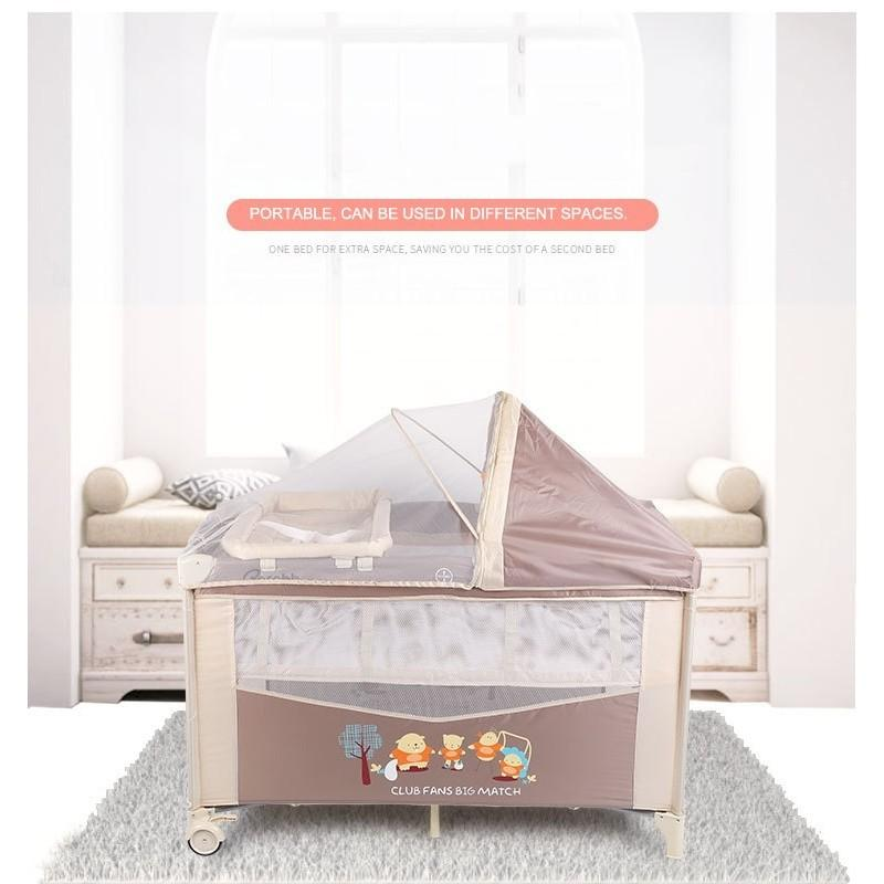Multifunctional Double-deck Play Bed Playards Playpen Portable