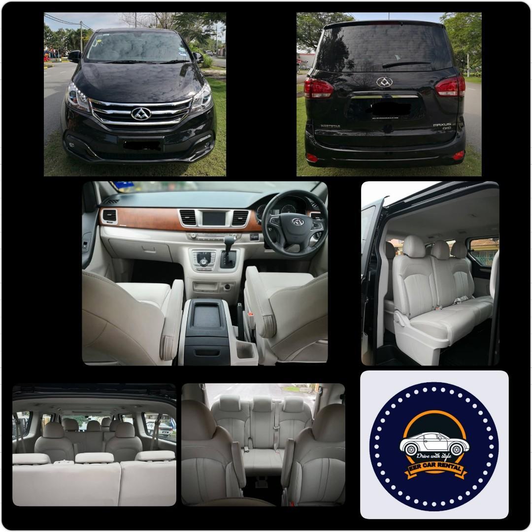 New Weststar Maxus G10 Turbo 2.0 (A) MPV 10 Seater Car Rental Selangor KL