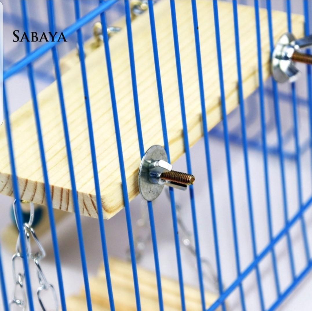 ❖NWJ❖3Pcs/Set Wooden Springboard Ladder Swing Stand Toy Parrots Birds