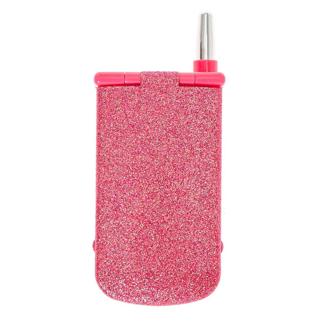 Pink Glitter Cellphone Makeup Compact Claires