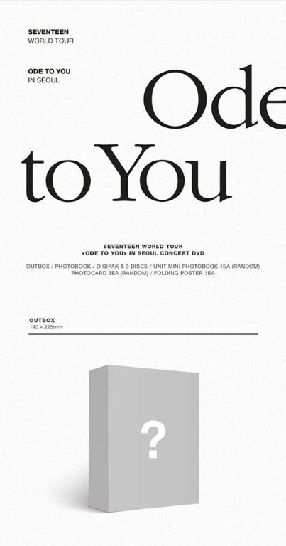 [PO] SEVENTEEN WORLD TOUR 'ODE TO YOU' IN SEOUL DVD