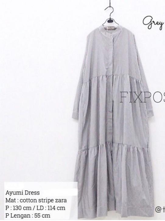 Preloved dress midi dress gamis busui by fixpose