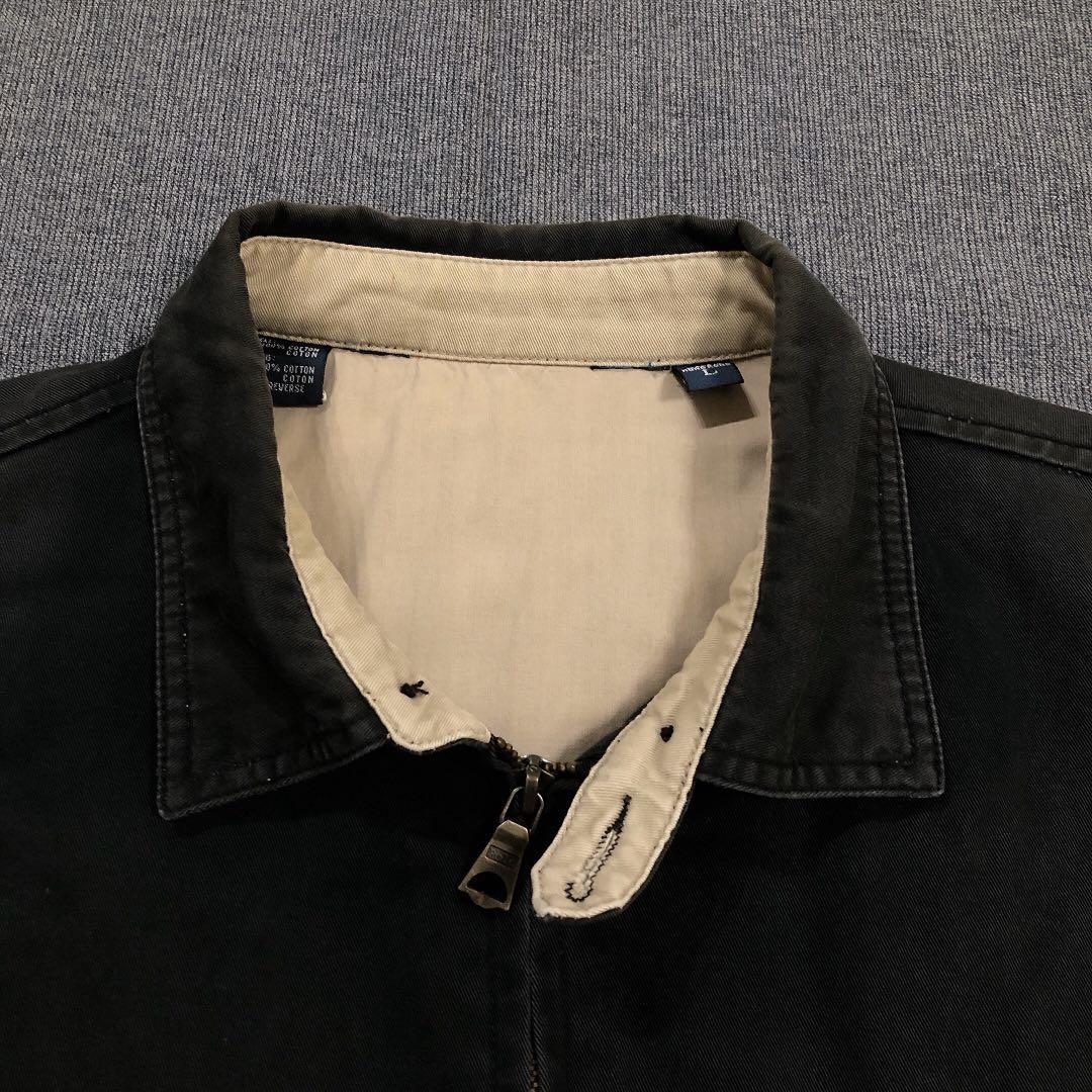 Ralph Lauren 古著黑色哈靈頓外套(L)