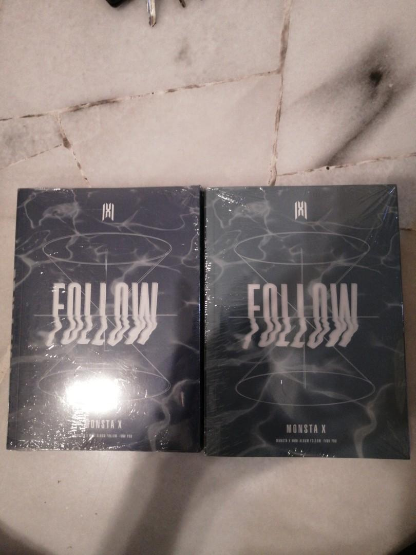 ready stock monsta x follow find you album with preorder benefit