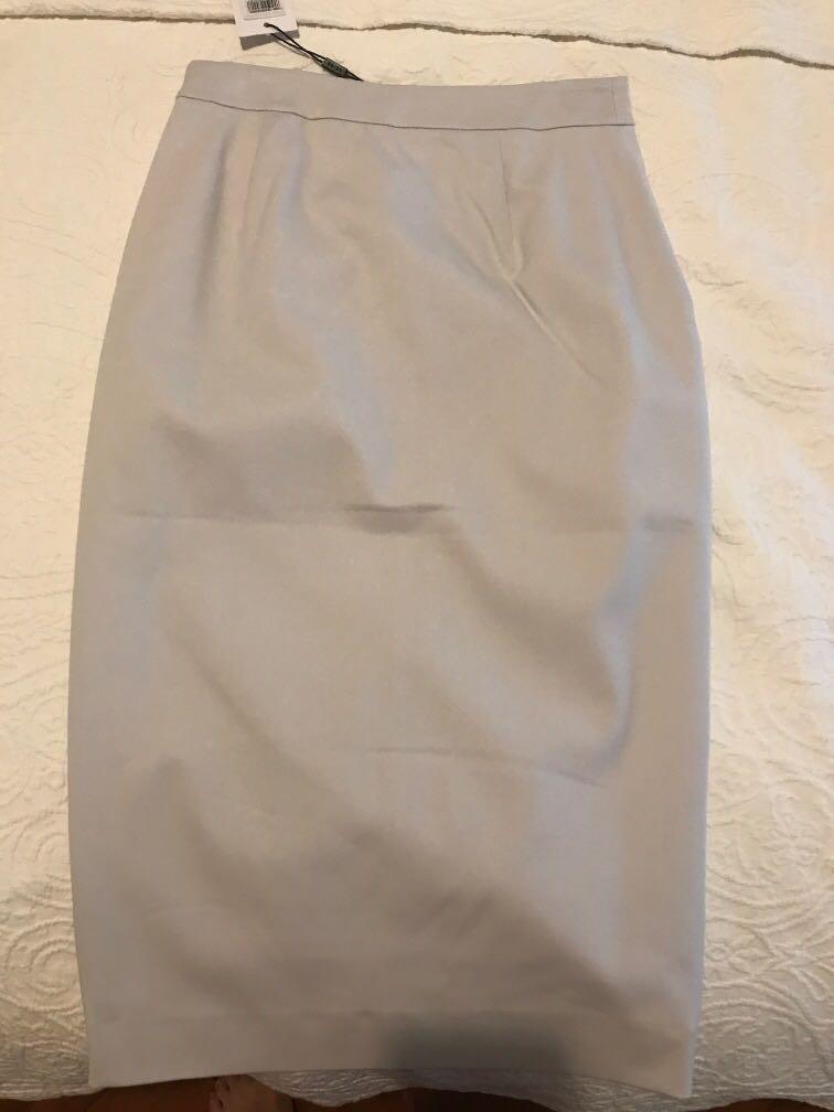 Reiss A Line Skirt in Light Grey Size UK6