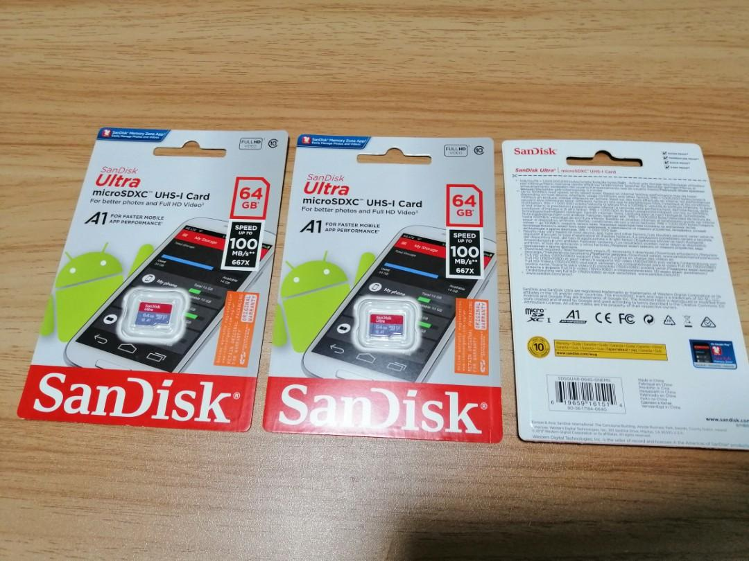 Sandisk Micro SD Card 64gb