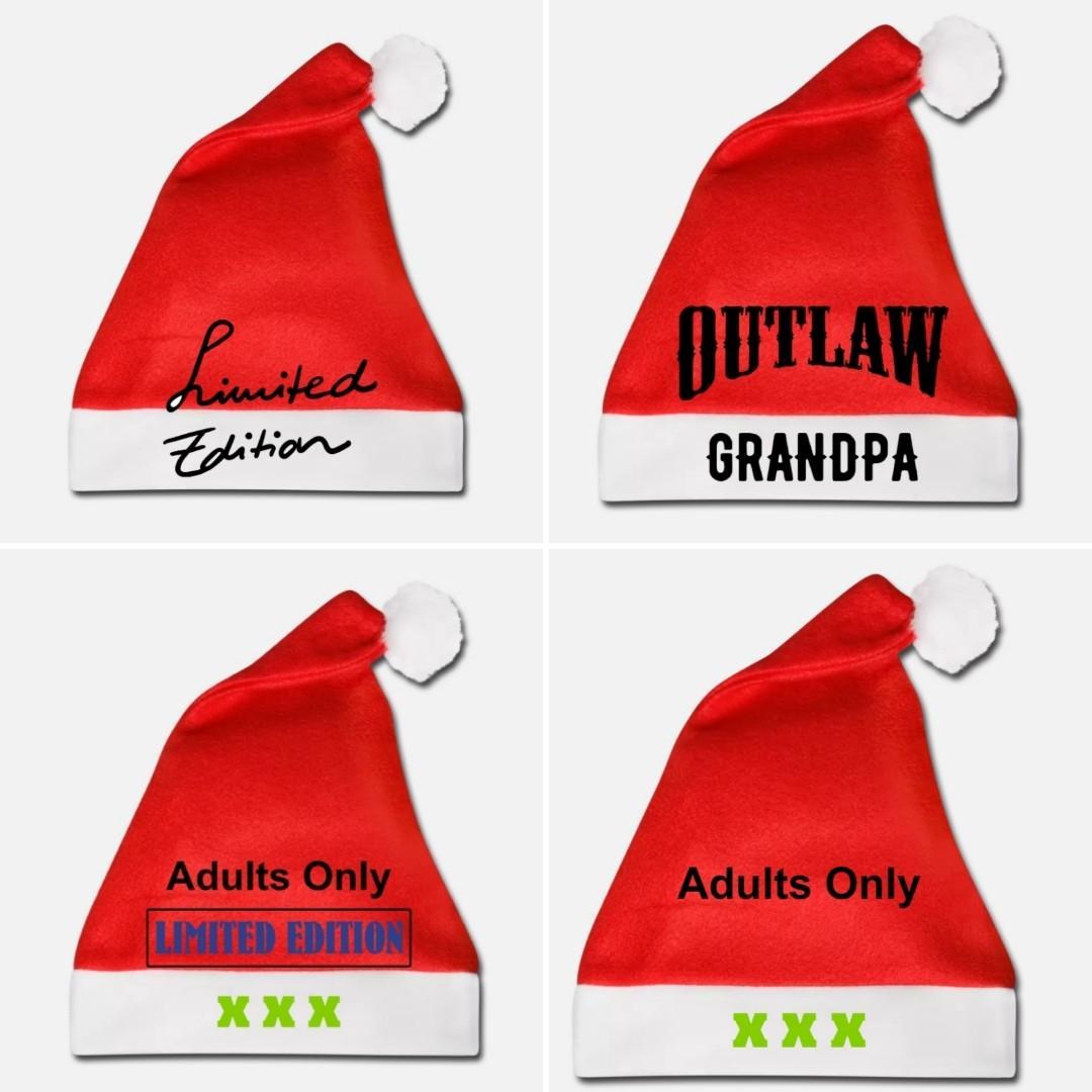Santa Hat Monogrammed Personalized Designed However You Like