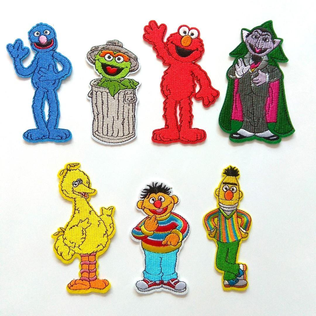 Sesame Street Big Bird Ernie Oscar Elmo Iron On Patch