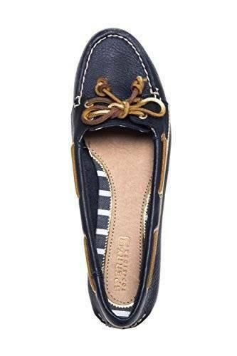 SPERRY TOP SIDER Women s Audrey Boat Shoe Navy Gold 9.5 M sneakers