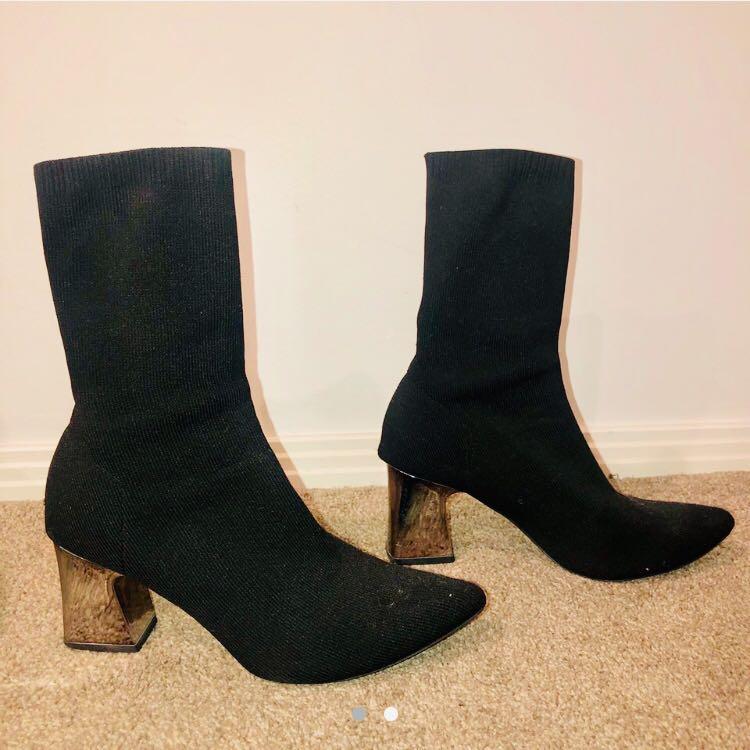 SPURR black sock boots