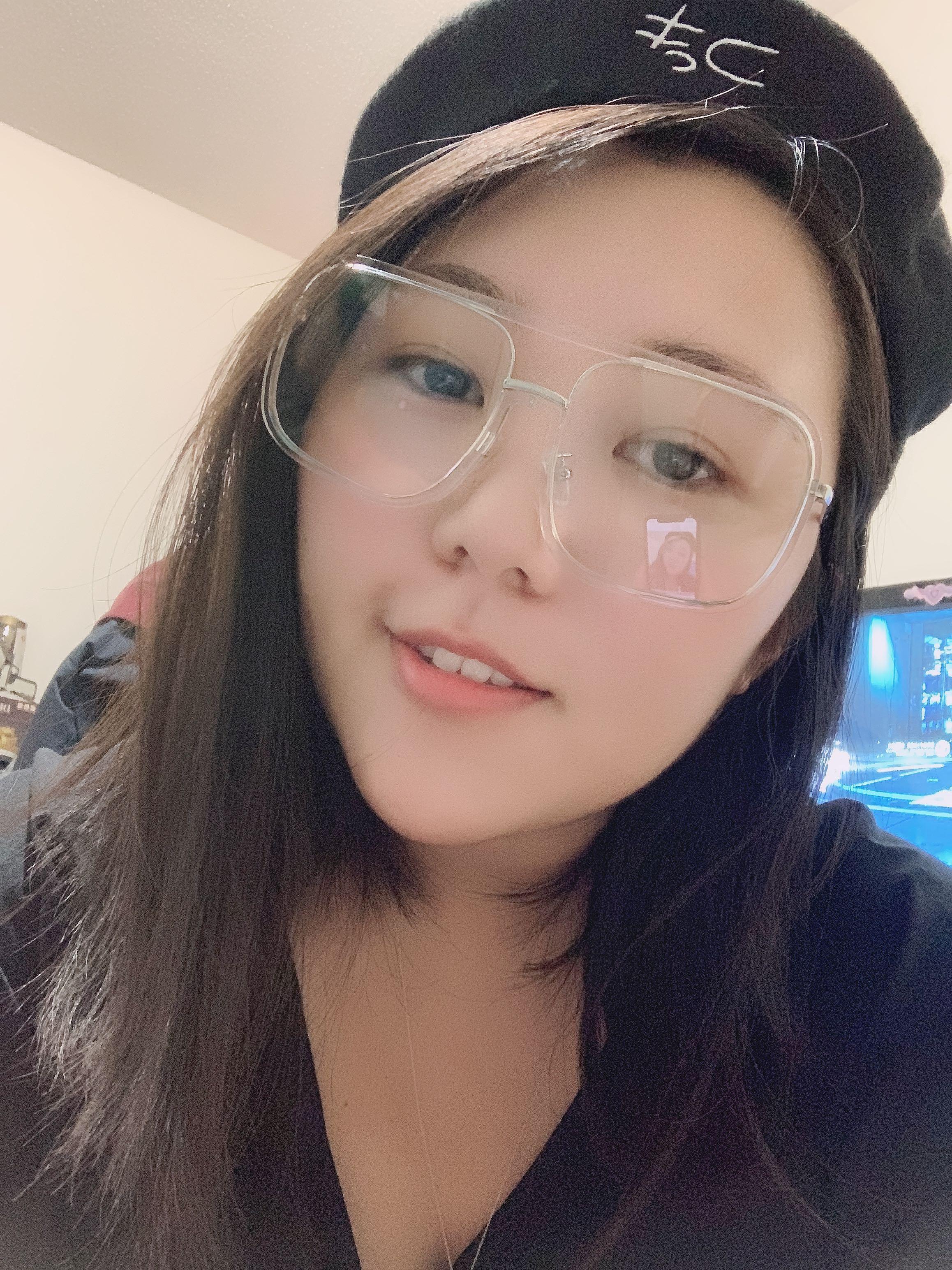 Stylish Clear Frame Glasses (0 degree)