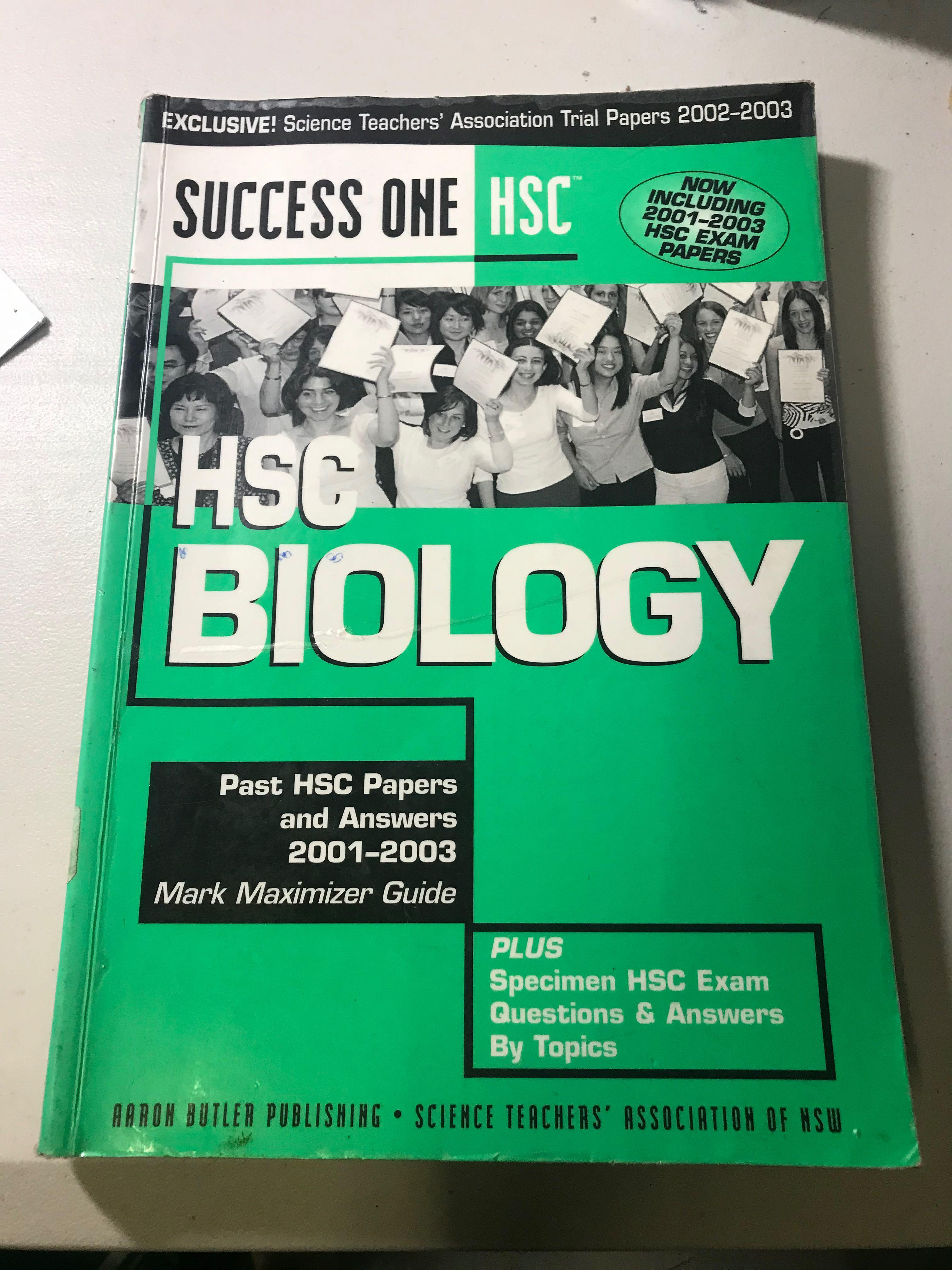 Success One HSC Biology Past HSC papers 2001-2003 + solutions (old syllabus)