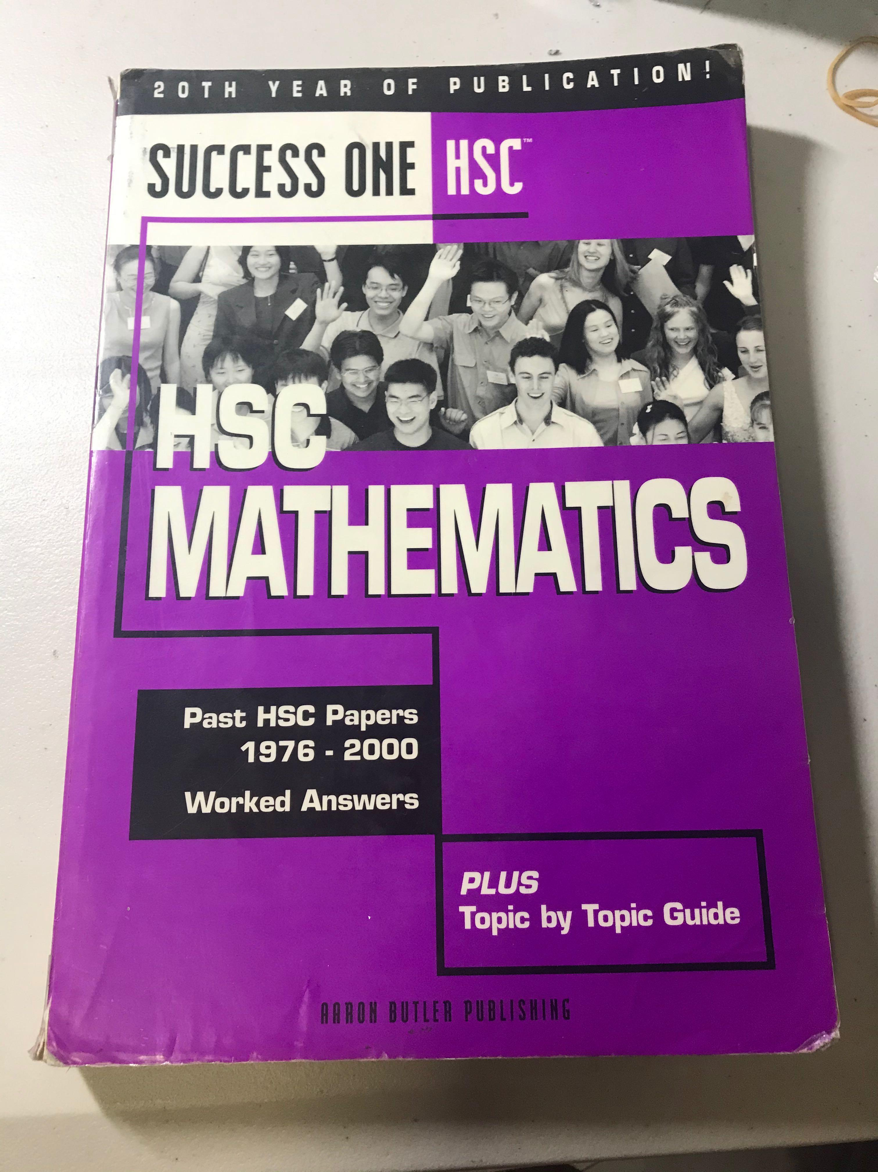 Success One HSC Mathematics Past HSC Papers 1976-2000 + solutions