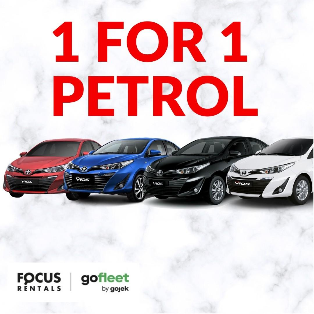 Toyota Vios (2019 Registered) ****Petrol 1-FOR-1 Deal !!!