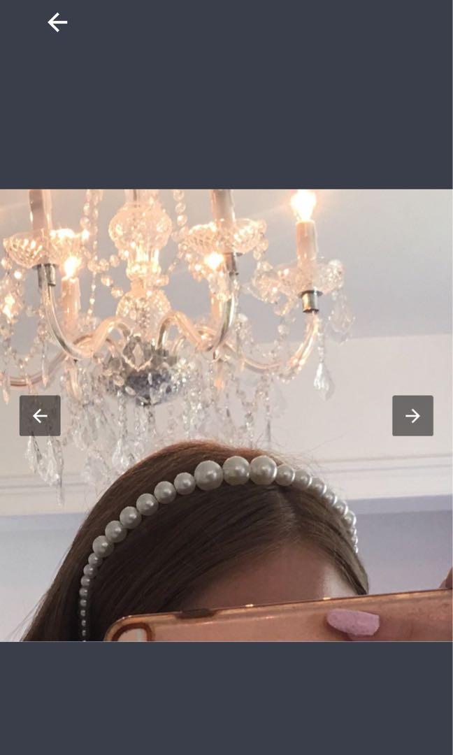 Trendy Pearl Hairband