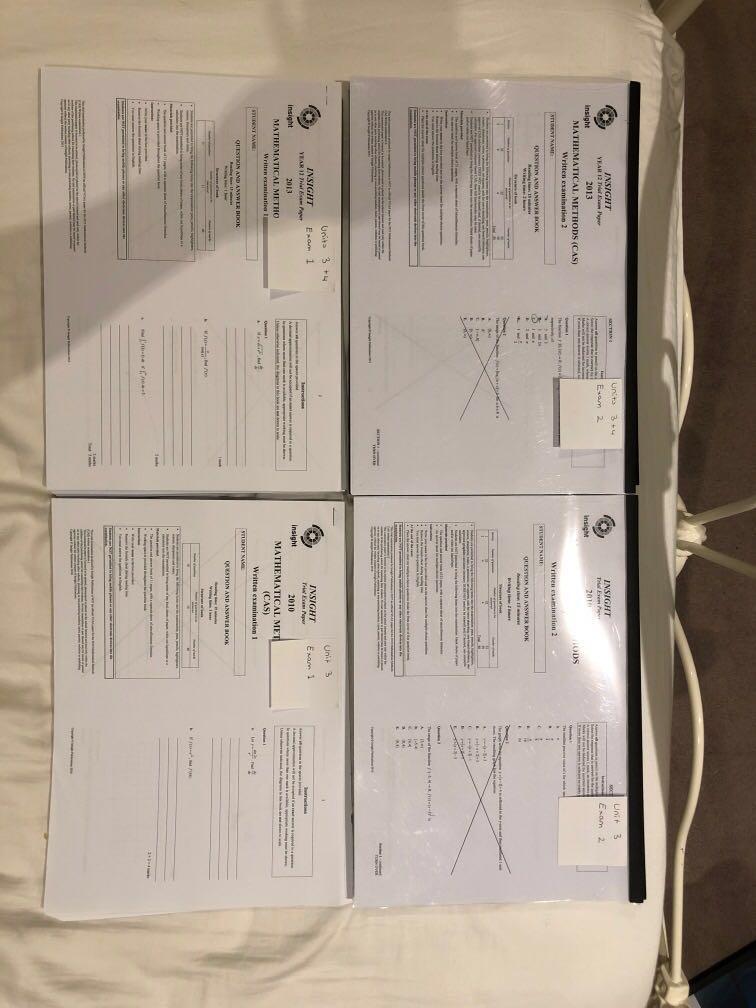 vce mathematical methods units 3 & 4 practise exam compilation