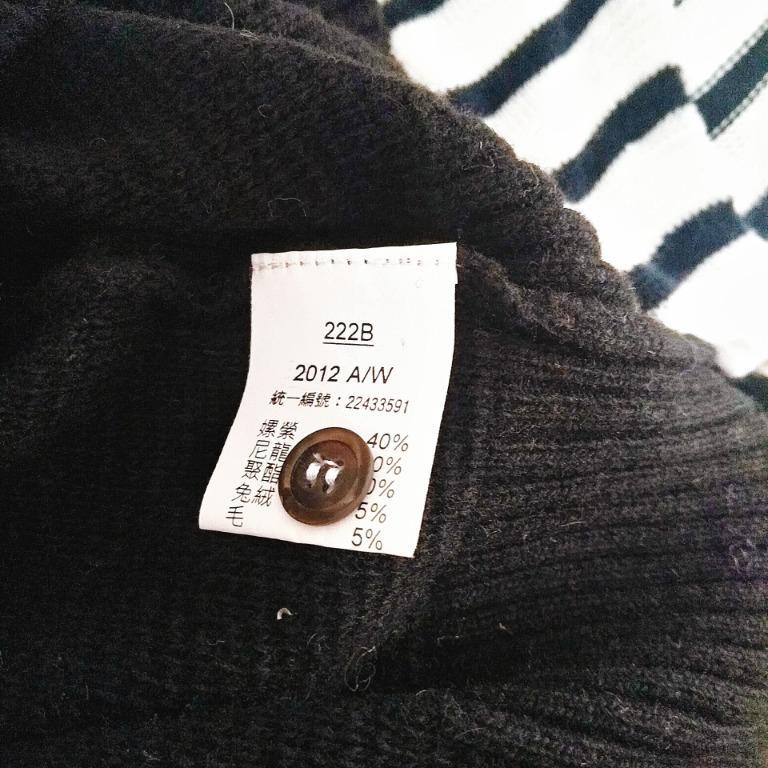 xing專櫃毛料高寬領上衣