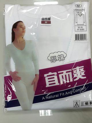 宜而爽厚棉長袖棉內衣M