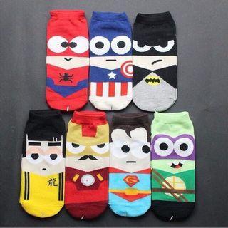 Cute Socks superman ironman spiderman batman (new)