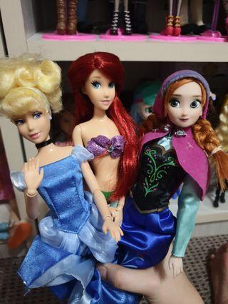 Disney Princess Dolls Cinderella Ariel Anna