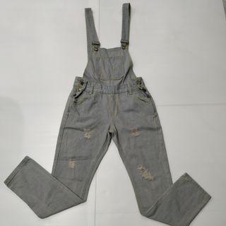 Grey Jumper Denim Jeans Denim Carpenter Wear Leg length 87cm x Waist 38cm
