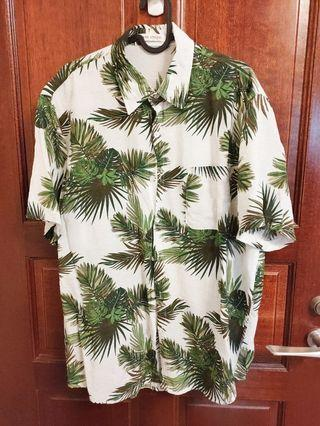 質感花襯衫-熱帶雨林