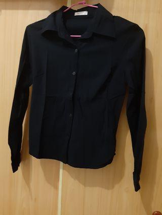 Wanko黑色彈性襯衫 34碼 #剁手時尚