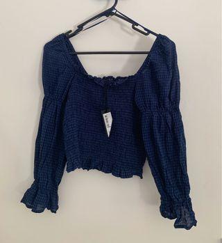 Cotton on square neck blouse