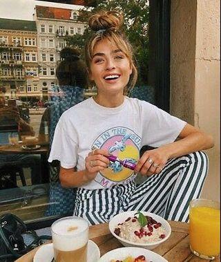 Brandy Melville fun in the sun Malibu 白色海鷗短袖T恤#剁手時尚