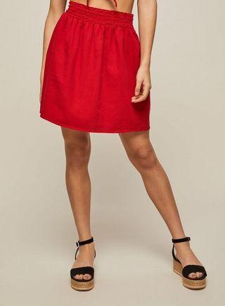 Preloved Miss selfridge denim a-line skirt