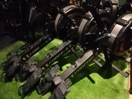 Concept 2 rower gym