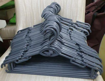 Plastic Clothes Hangers - Gray color