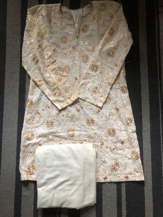 Baju Kurung cream