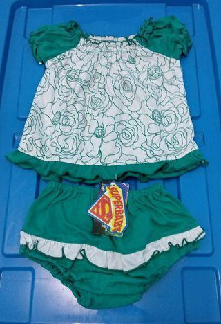 #1111special [Nego/barter] Set Baju bayi hijau