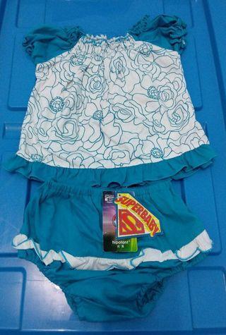 #1111special [Nego/barter] Set Baju bayi biru