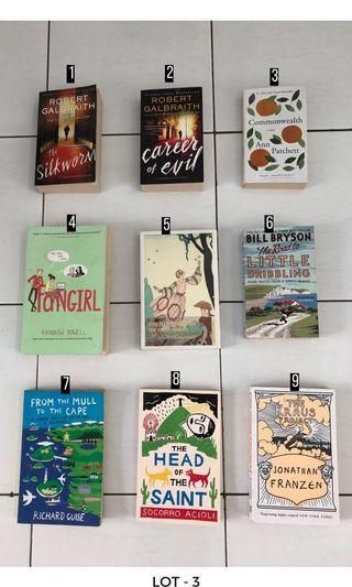 Preloved Imported Books: 70k/pc Free Shipping Jadetabek
