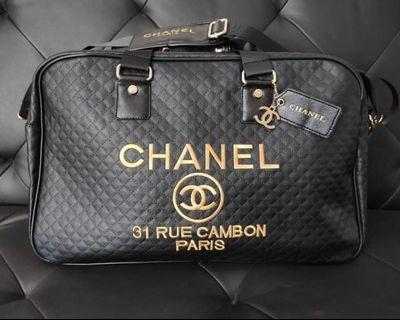 chanel quilted authentic gift bag
