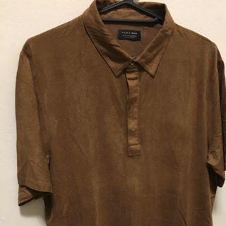 Zara Man 棕色麂皮襯衫🏾M號
