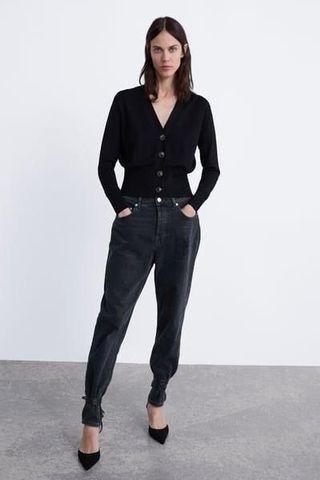 Preloved Zara buttoned cardigan