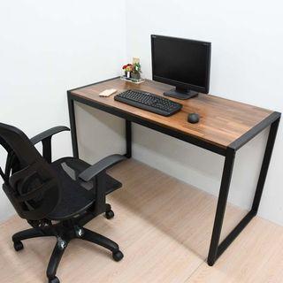 工業風 電腦桌 書桌 工作桌128公分 無插座抽屜款 台灣製 喬艾森
