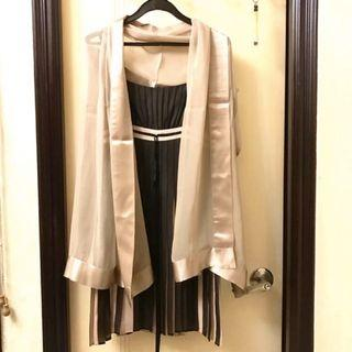 🔥price down🔥Evening Party Dress With Scarf 雪紡吊帶晚裝裙連圍巾